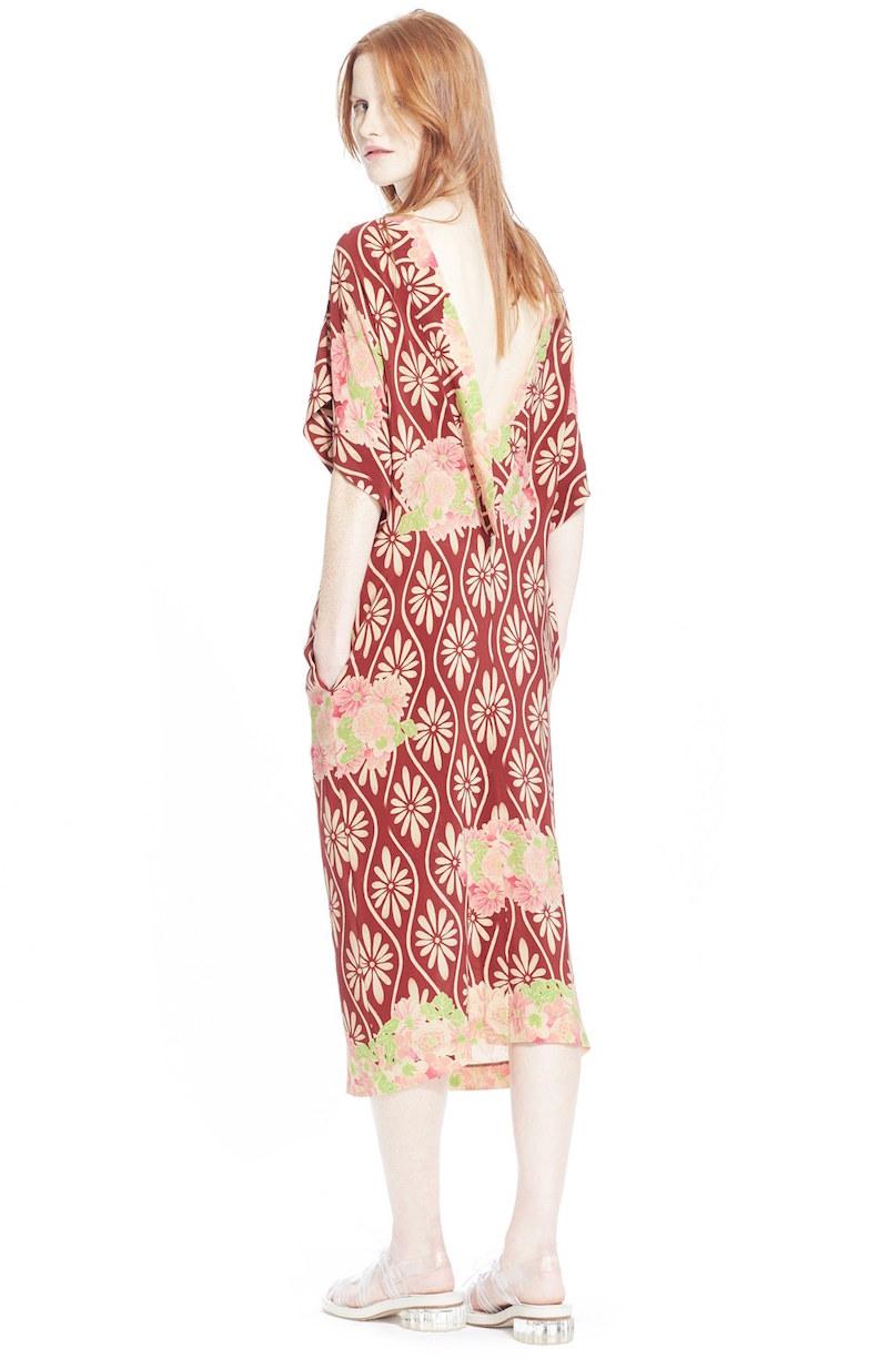 Simone Rocha Print Silk Kimono Dress