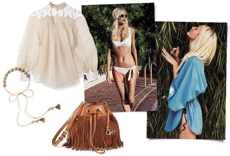 Solid & Striped Poppy Delevingne Woven Cover Up