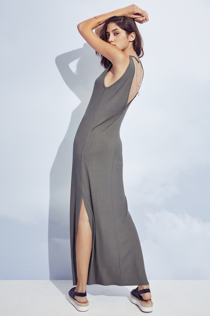 Soprano Ribbed Maxi Dress