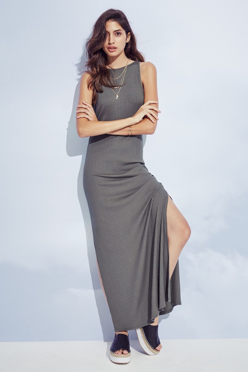 Soprano Ribbed Maxi Dress_1