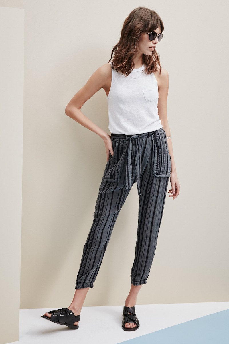 Stateside Vertical Stripe Drawstring Pants