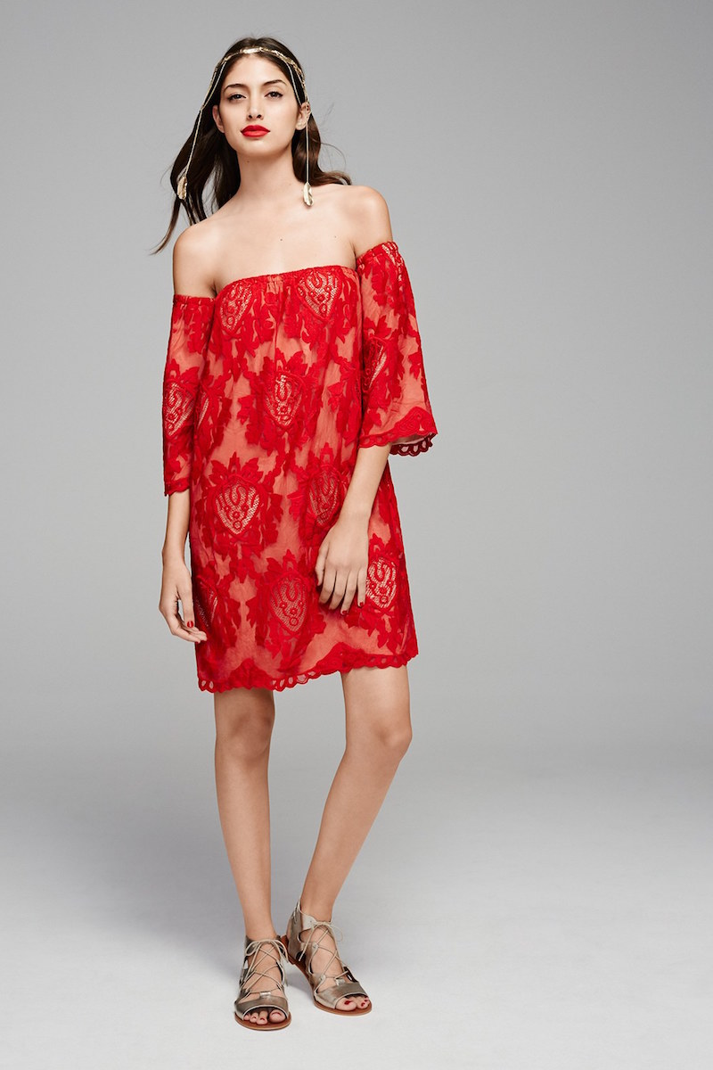 Storee Lace Off the Shoulder Dress