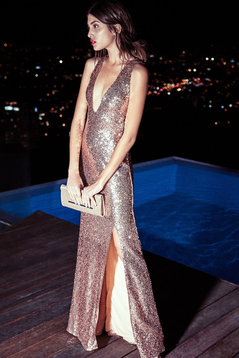 TFNC Tallulah Sequin Sleeveless Gown