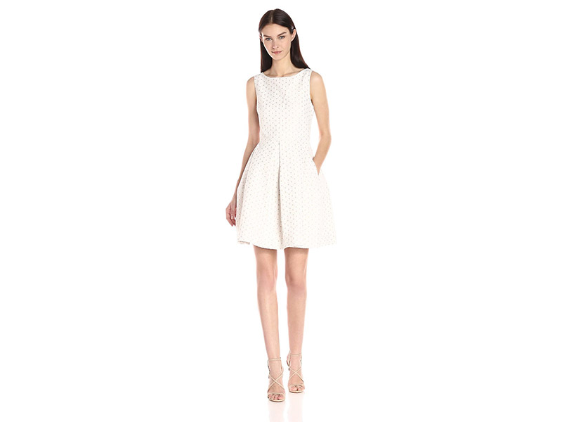 Taylor Dresses Fit and Flare Couture Eyelett Dress