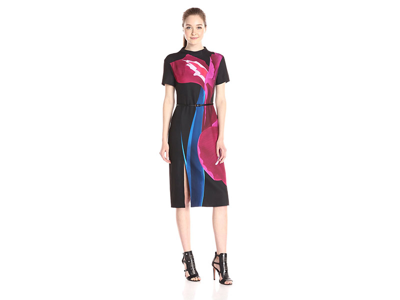 Ted Baker Sianne Stenciled Stems Midi Dress