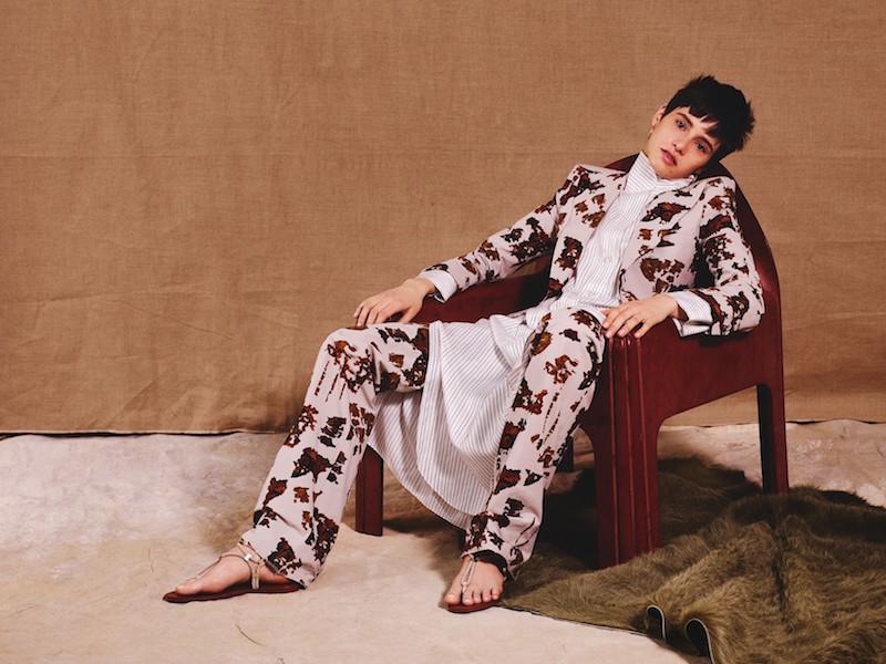 The Row Luid Striped Silk Shirtdress