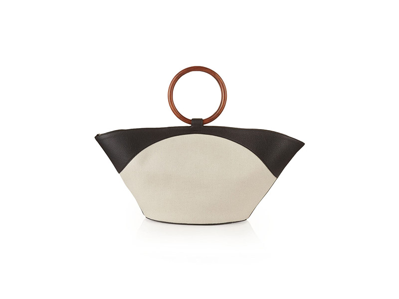 The Row Market Canvas and Leather Tote