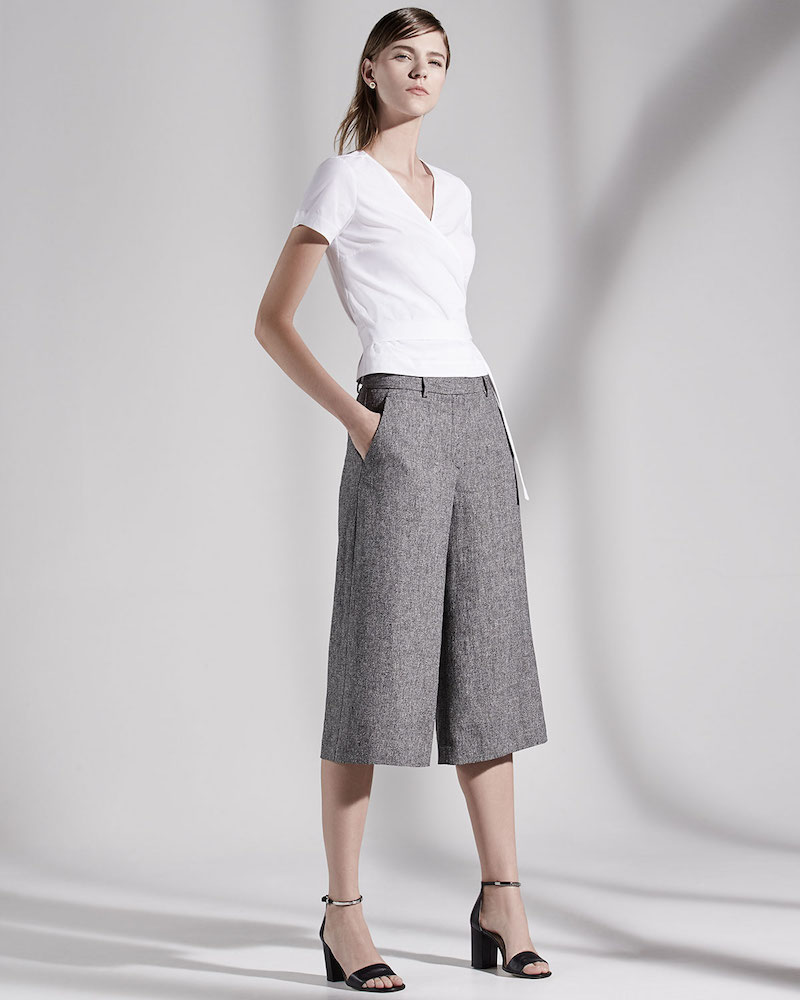 Theory Halientra Wide-Leg Cropped Pants