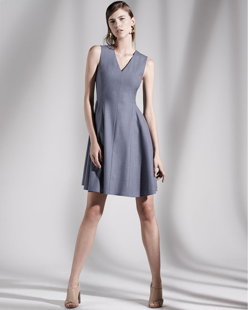 Theory Kalsington Cl. Continuous A-Line Dress