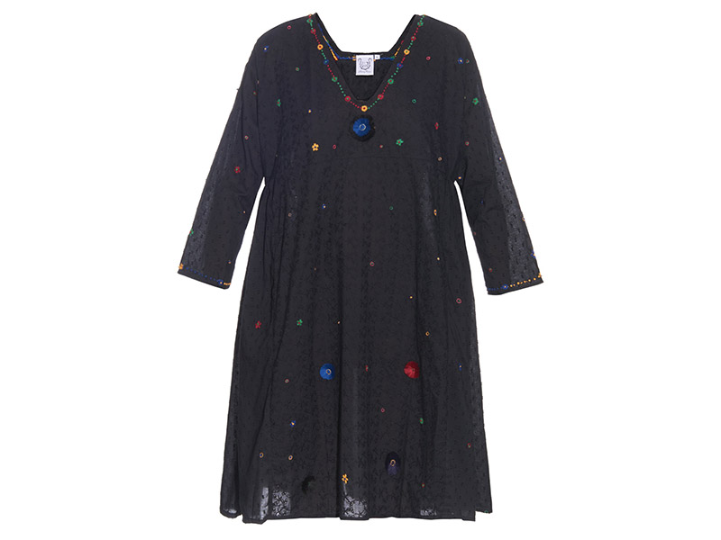 Thierry Colson Pakeza Embroidered Cotton Dress