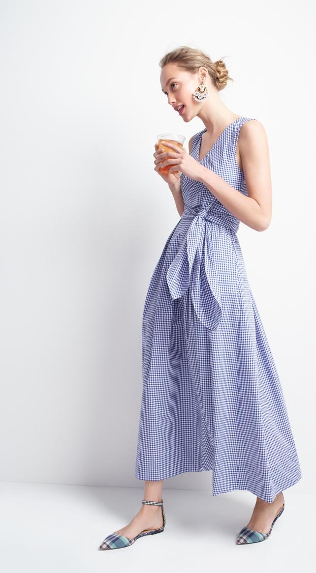 Thomas Mason for J.Crew gingham dress