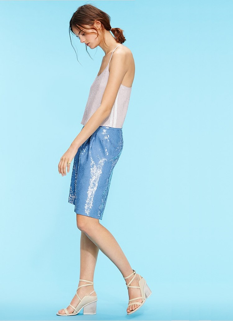Tibi Allover Sequins Shorts