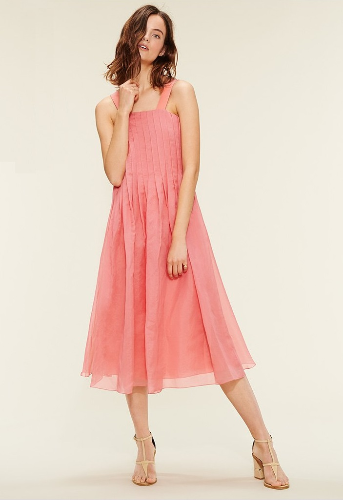 Tibi Isa Pleated Dress