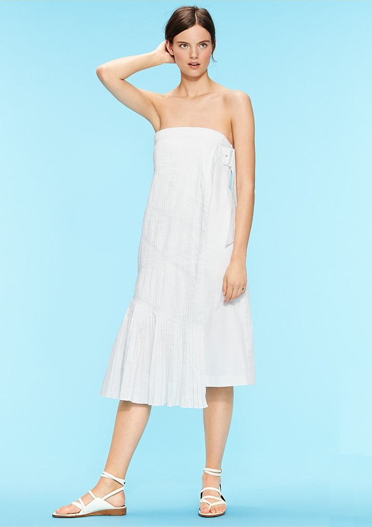 Tibi Manuella Strapless Dress