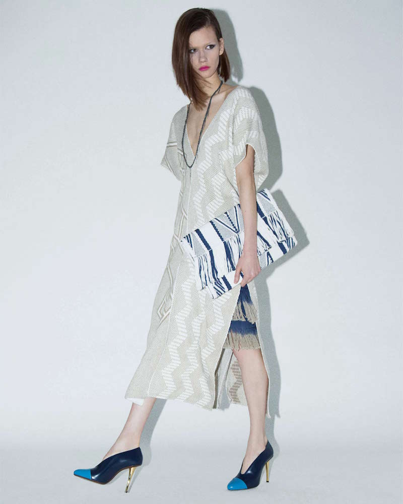 VOZ Long Zigzag Woven Dress