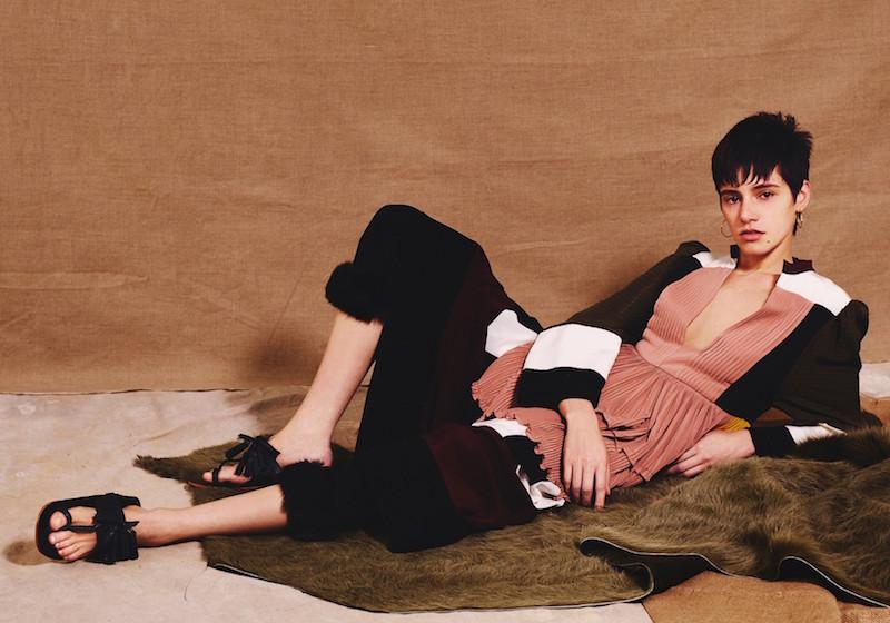Valentino Colour-block Silk-georgette Dress