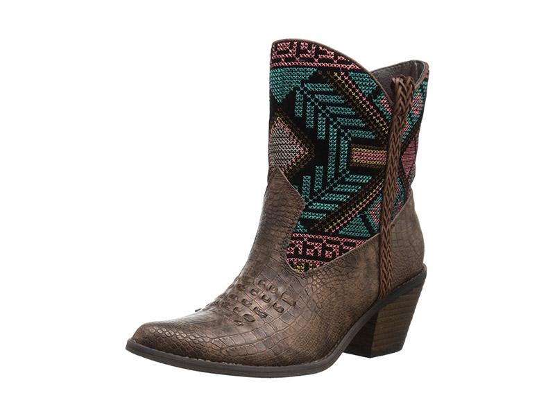 Very Volatile Festive Western Boot