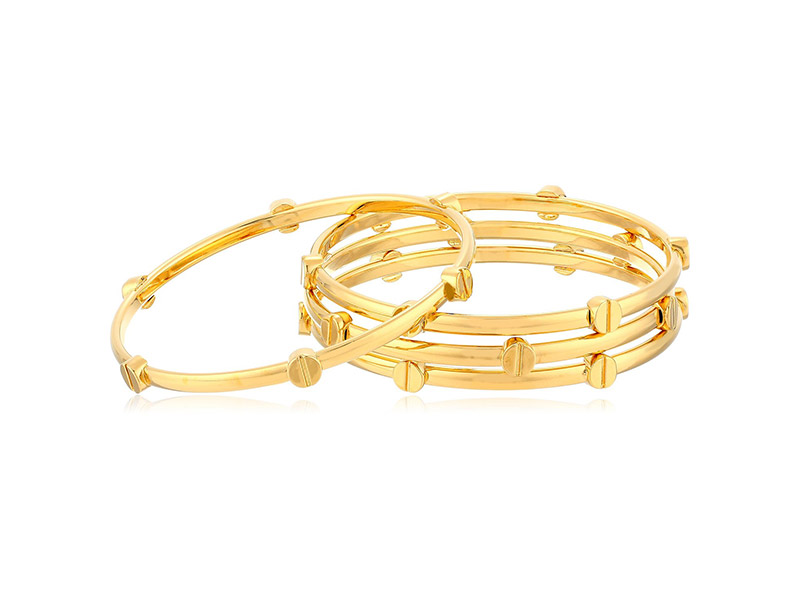Vince Camuto Gold Tone Stacked Bracelet