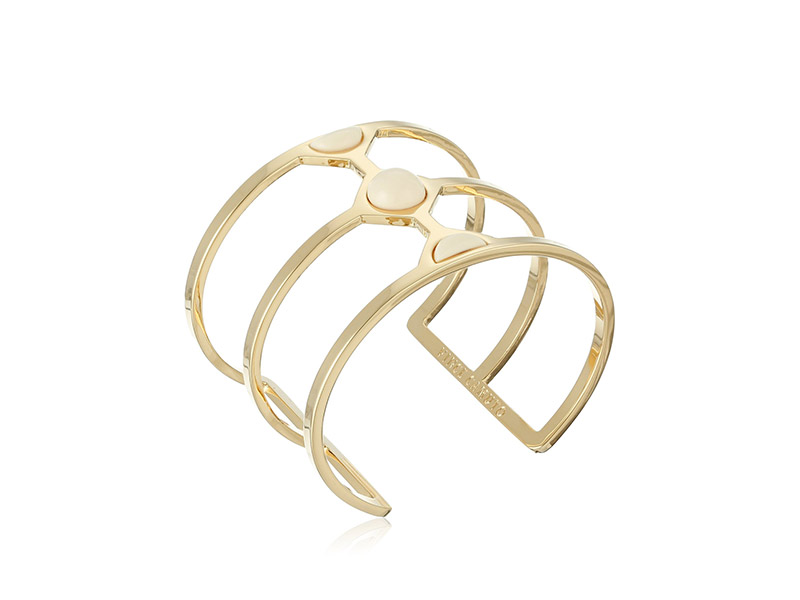 Vince Camuto Milky Resin Cut Out Swirl Cuff Bracelet