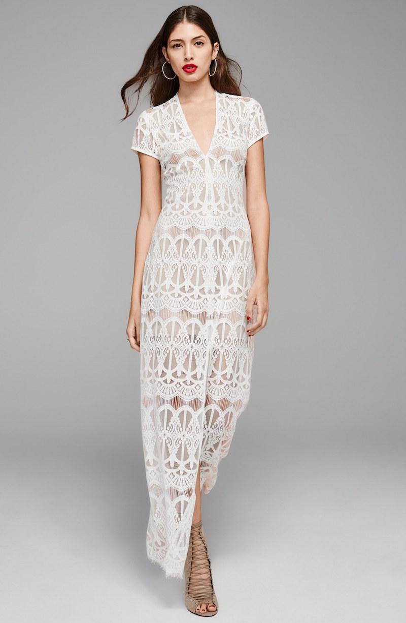 Wayf V-Neck Lace Maxi Dress