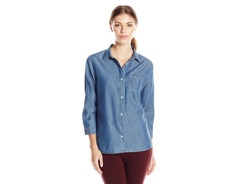 Woolrich Fairview Denim Tencel Shirt