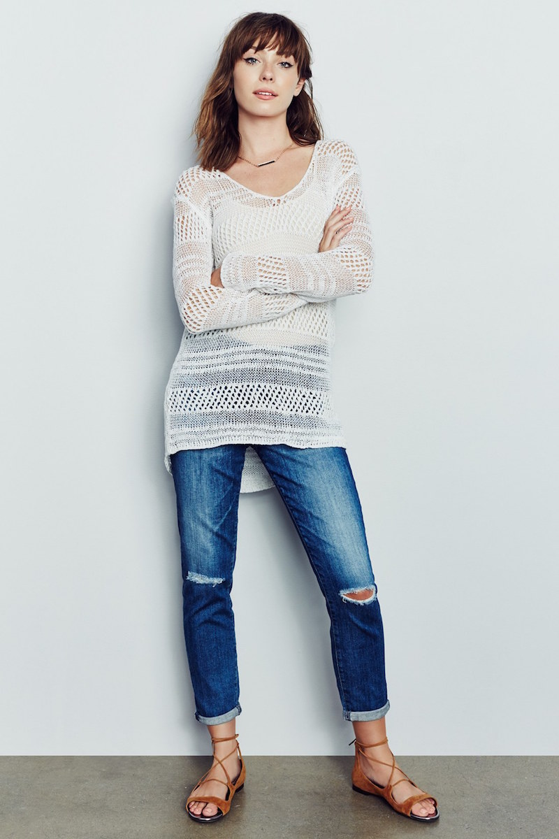 cupcakes and cashmere Mel Open Knit Sweater
