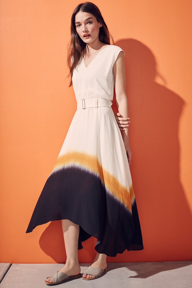 A.L.C. Deloro Dip Dye Silk Midi Dress