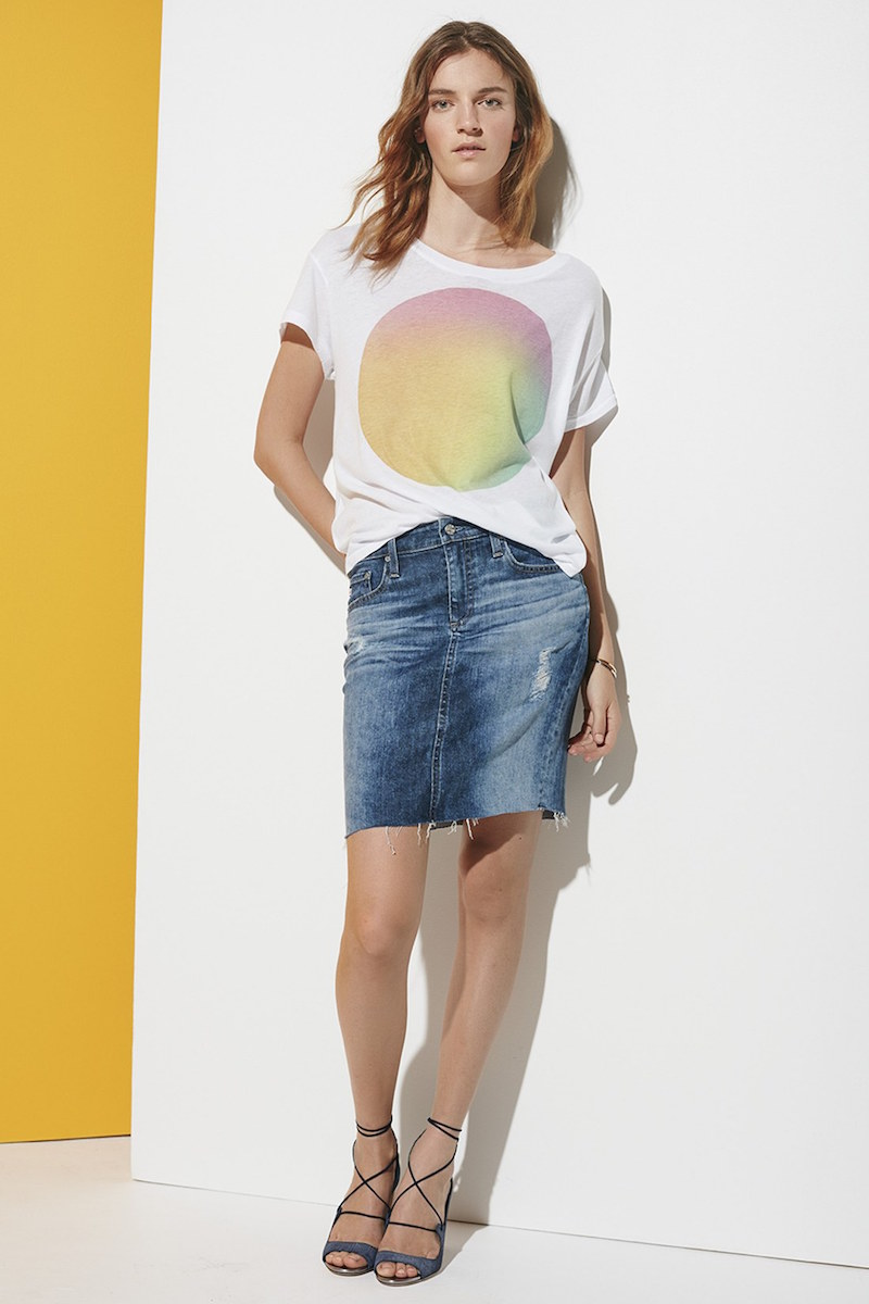 AG Erin Cutoff Denim Skirt
