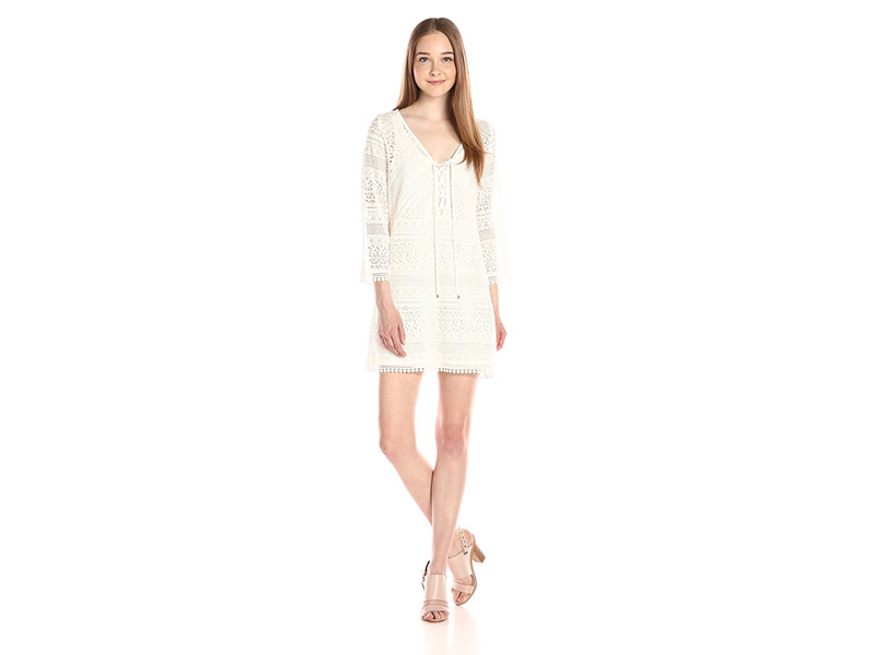 Adrianna Papell Lace Long Sleeve Dress