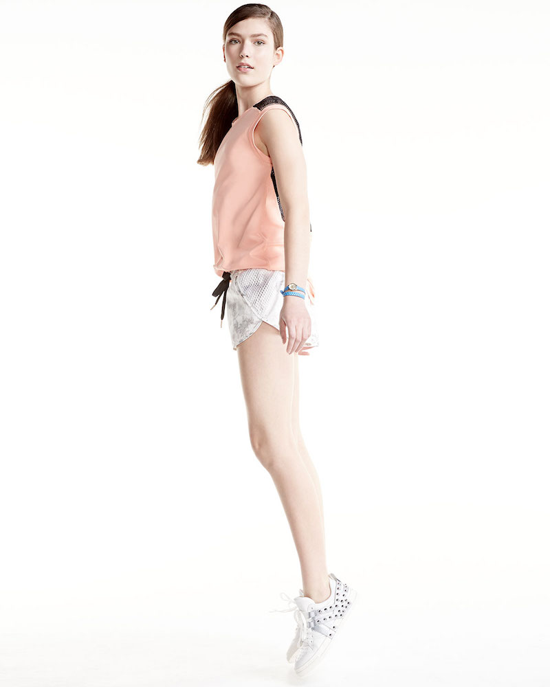 Alala Mesh-Back Cap-Sleeve Sport Tee