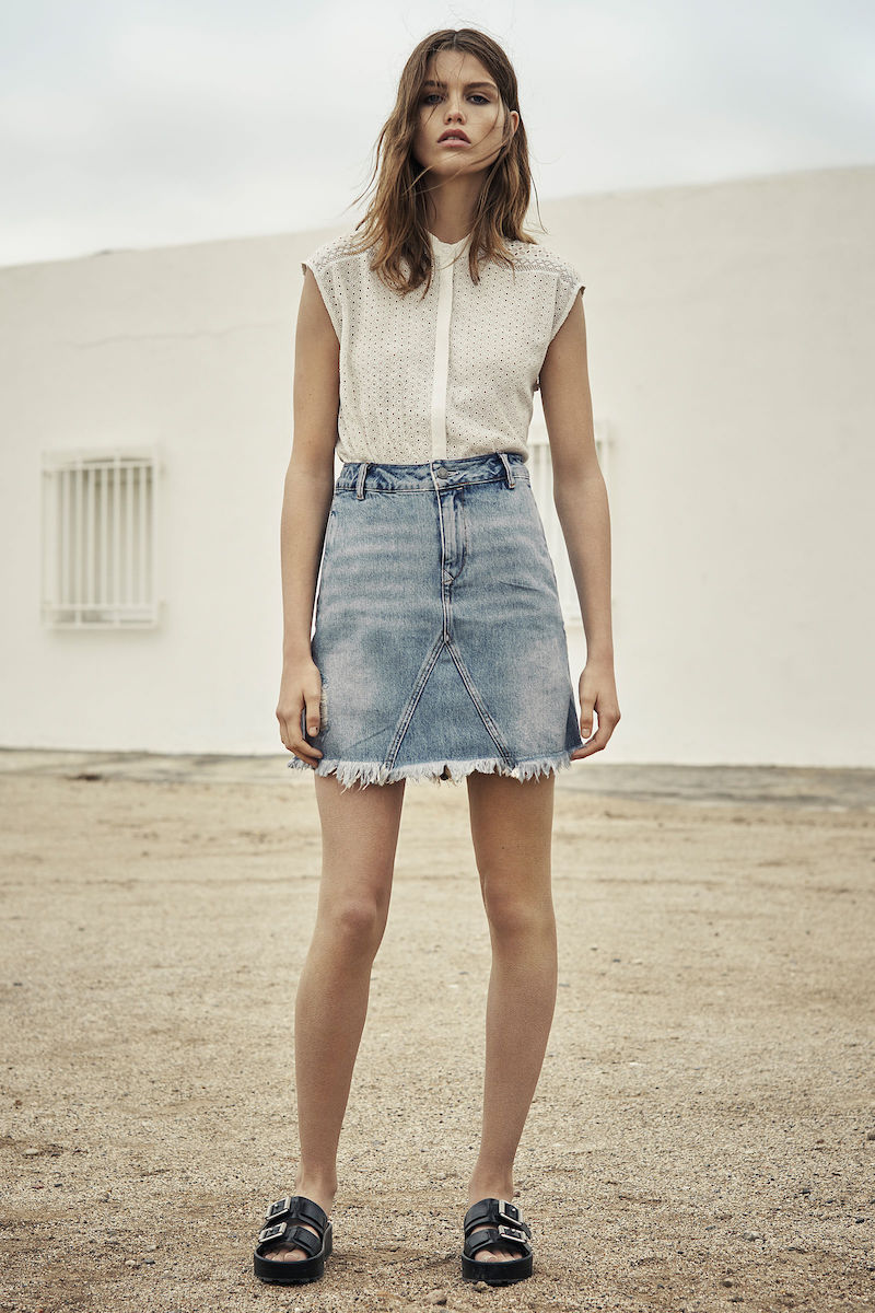 AllSaints Lari Denim Skirt