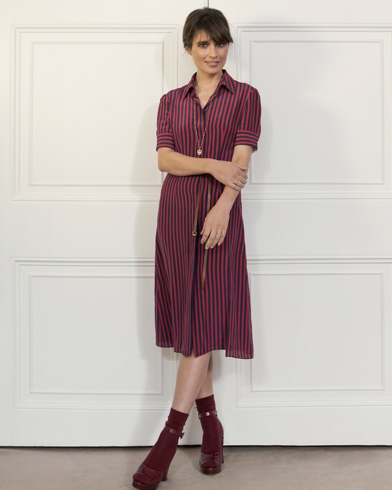 Altuzarra Kieran striped Crepe De Chine Shirtdress_1