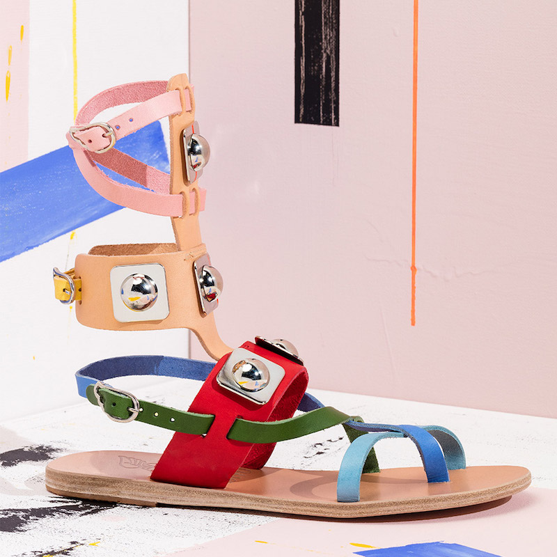 Ancient Greek Sandals x Peter Pilotto Leather Low Gladiator Sandals
