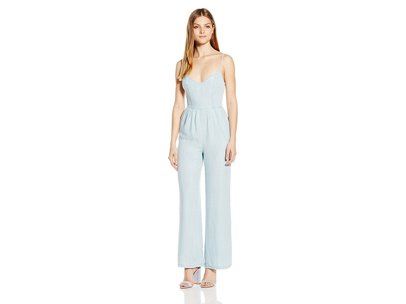BB Dakota Elliot Denim Tencel Jumpsuit with Tie Back