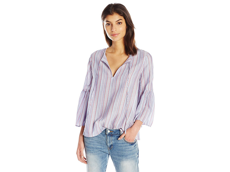 BCBGMAXAZRIA Serene Flared Sleeve Top