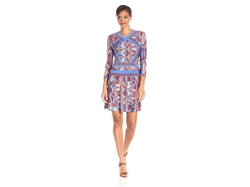 BCBGMax Azria Damika Printed Matte Jersey Dress