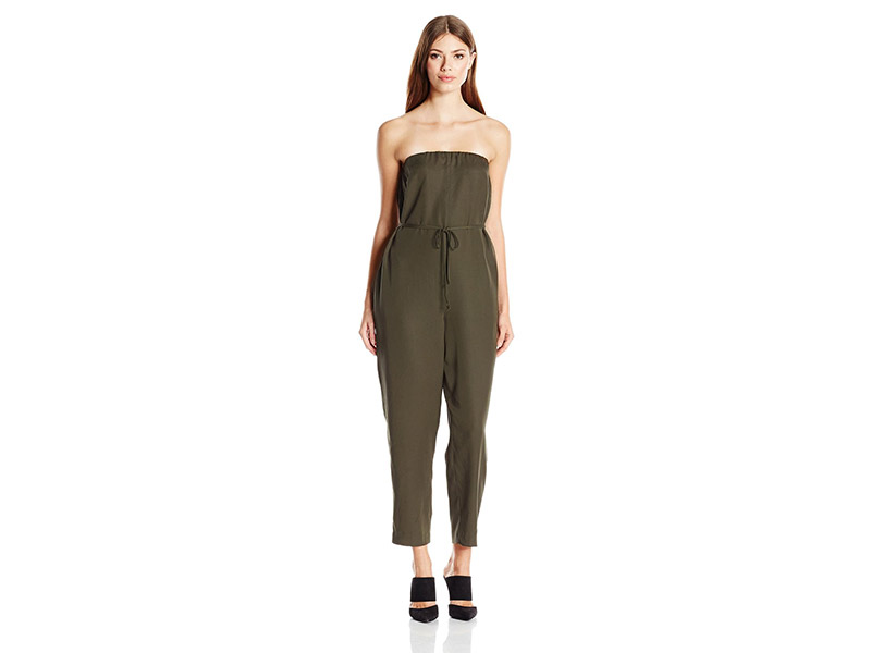 BCBGeneration Belted Strapless Jumpsuit