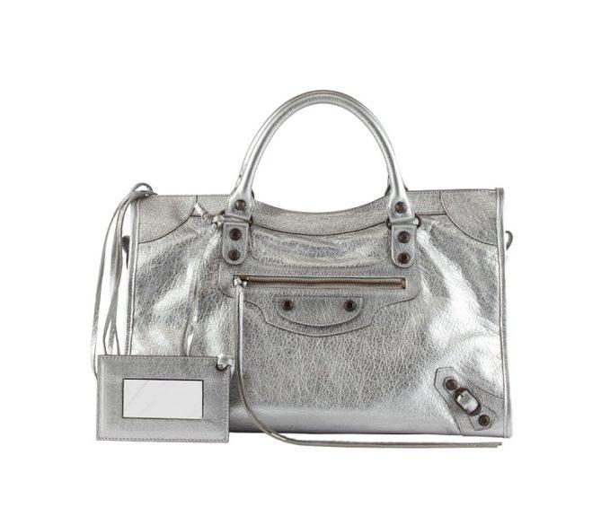 Balenciaga Classic Metallic City Bag