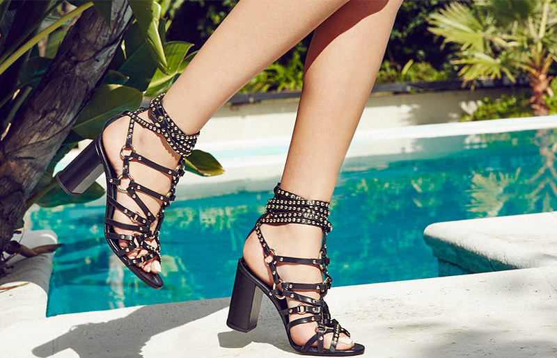 Balmain Studded Leather Sandals