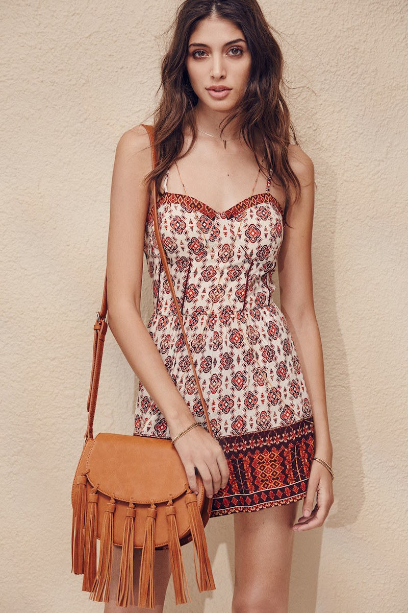 Band of Gypsies Border Print Romper