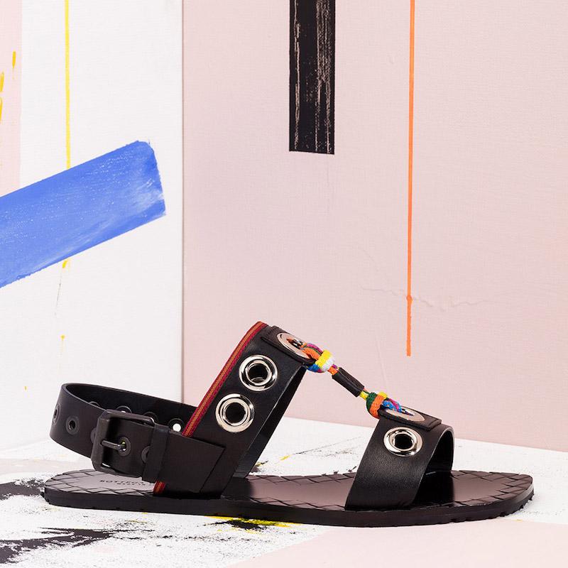 Bottega Veneta Grommet Sandals