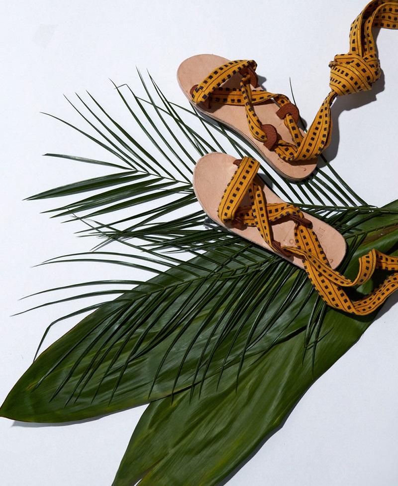 Brother Vellies Zanzibar wraparound sandals