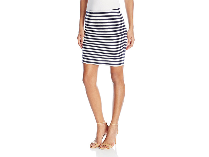C&C California Ashley Stripe Mini Skirt