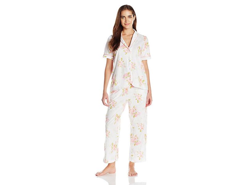 Carole Hochman Floral Cotton Capri Pajama