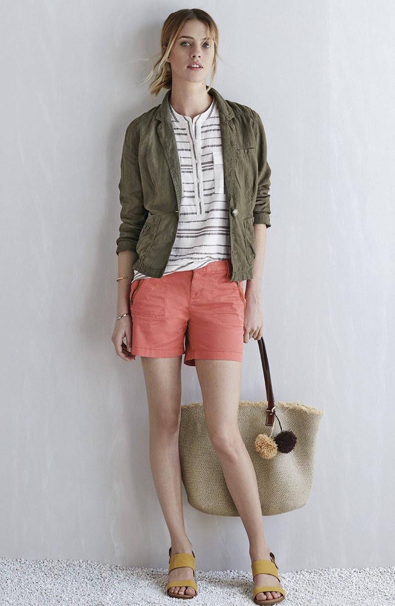 Caslon Addison Zip Pocket Shorts