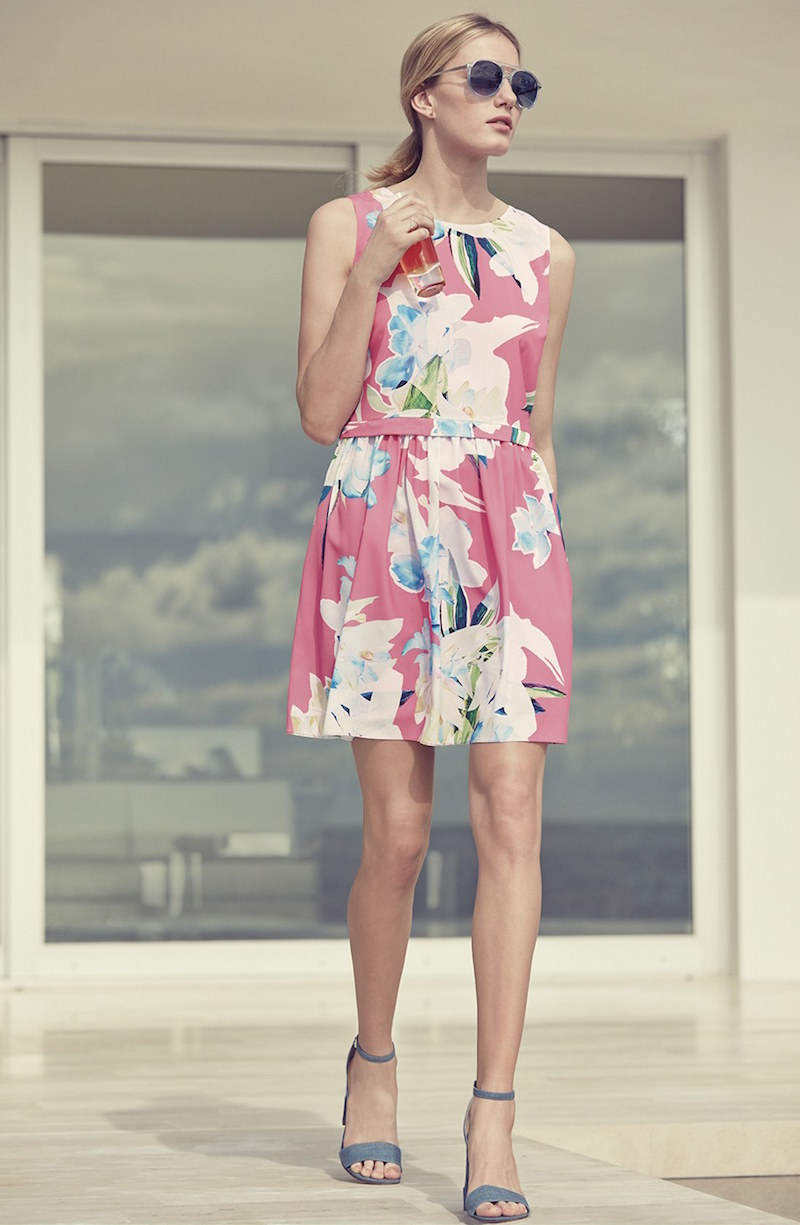 CeCe by Cynthia Steffe Jordyn Floral Print Fit & Flare Dress