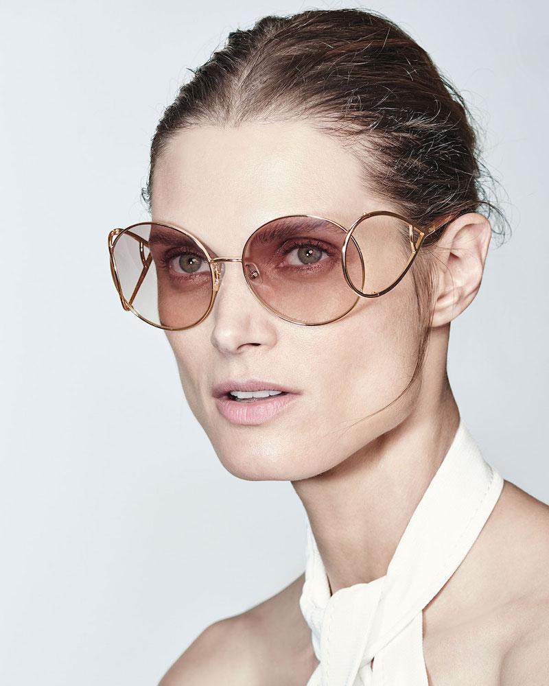 Chloé Jackson Oversized Round Metal Sunglasses
