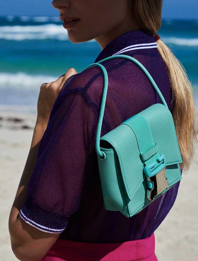 Christopher Kane Safety Buckle Mini Leather Shoulder Bag