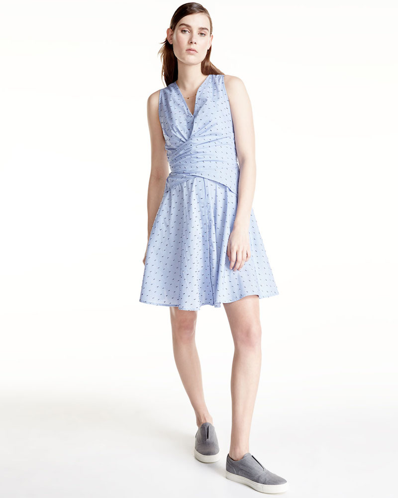 Derek Lam 10 Crosby Sleeveless Tie-Back Poplin Dress