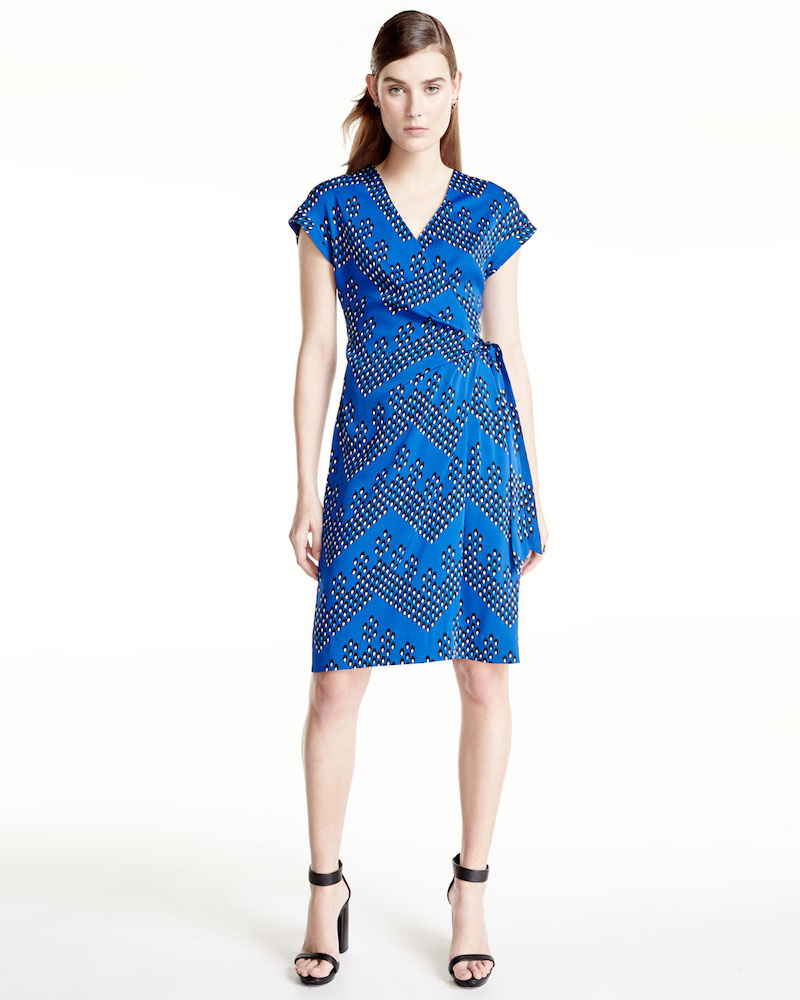 Diane von Furstenberg Sascha Dot-Print Wrap Dress